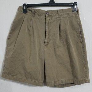 Ralph Lauren Mens 32 Tan Khaki Shorts Chinos Chino